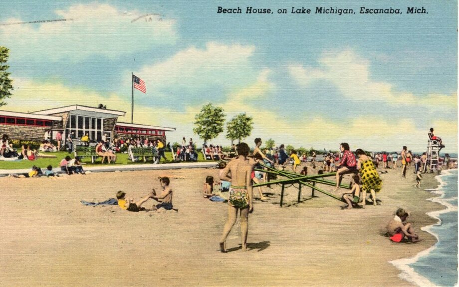 Beach House, on Lake Michigan, Escanaba, Mich.